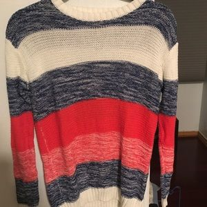Three colored sweater